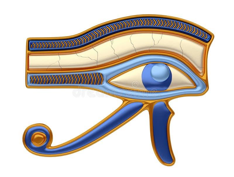 眼睛horus 皇族释放例证