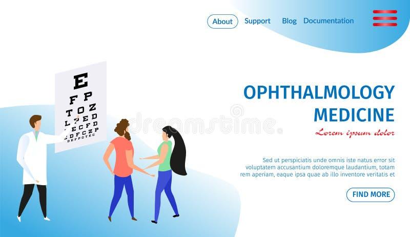 眼科学医学水平的横幅 眼医 皇族释放例证
