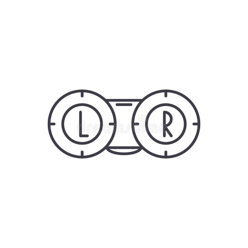眼科学线象概念 眼科学传染媒介线性例证,标志,标志 皇族释放例证