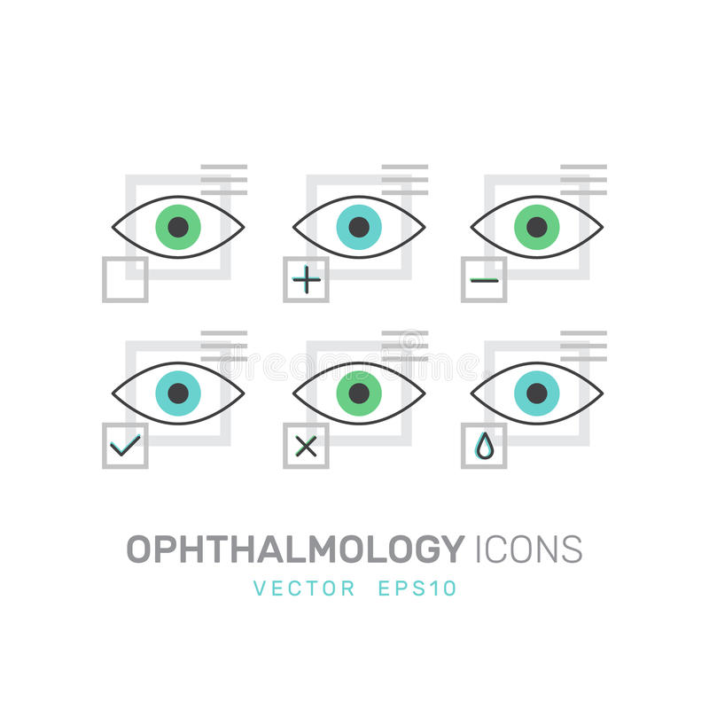 眼科学医疗保健,医疗诊断,人的视觉概念 皇族释放例证