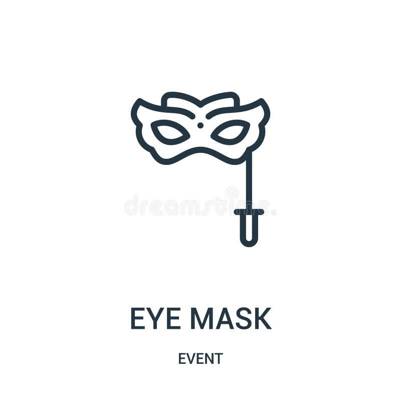眼罩从事件汇集的象传染媒介 稀薄的线眼罩概述象传染媒介例证 皇族释放例证