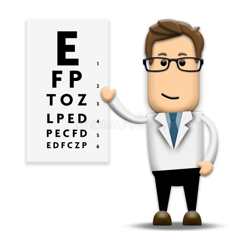 眼镜师 向量例证