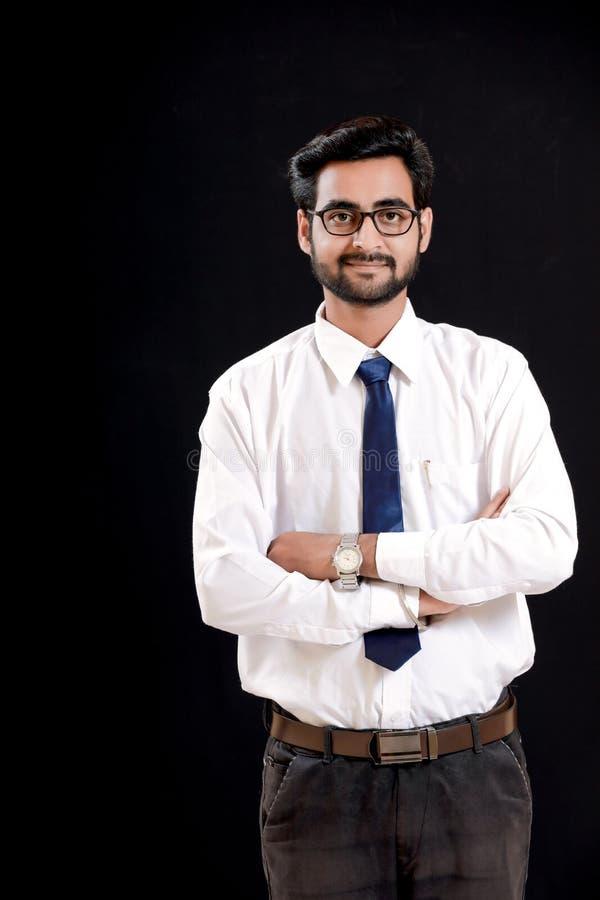 眼镜的印地安年轻人 库存图片