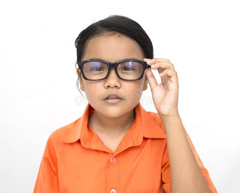 戴眼镜的小姐 库存图片