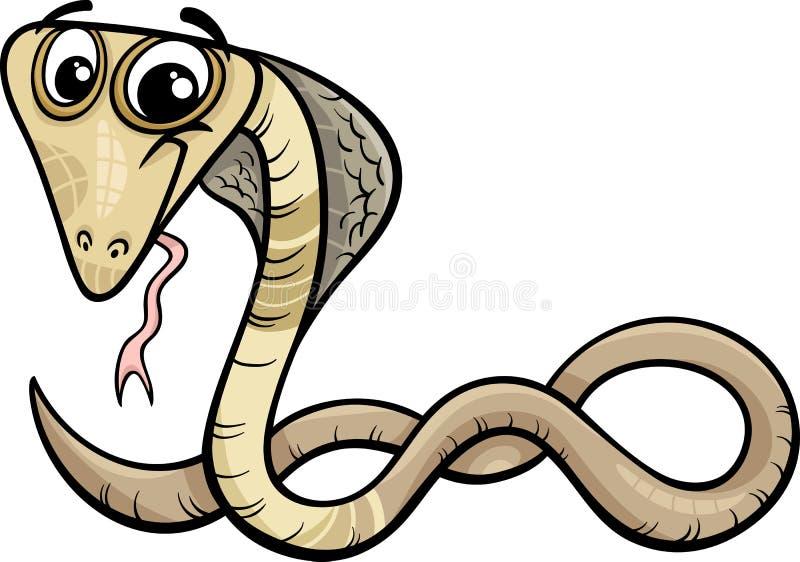 眼镜蛇动物动画片例证 库存例证