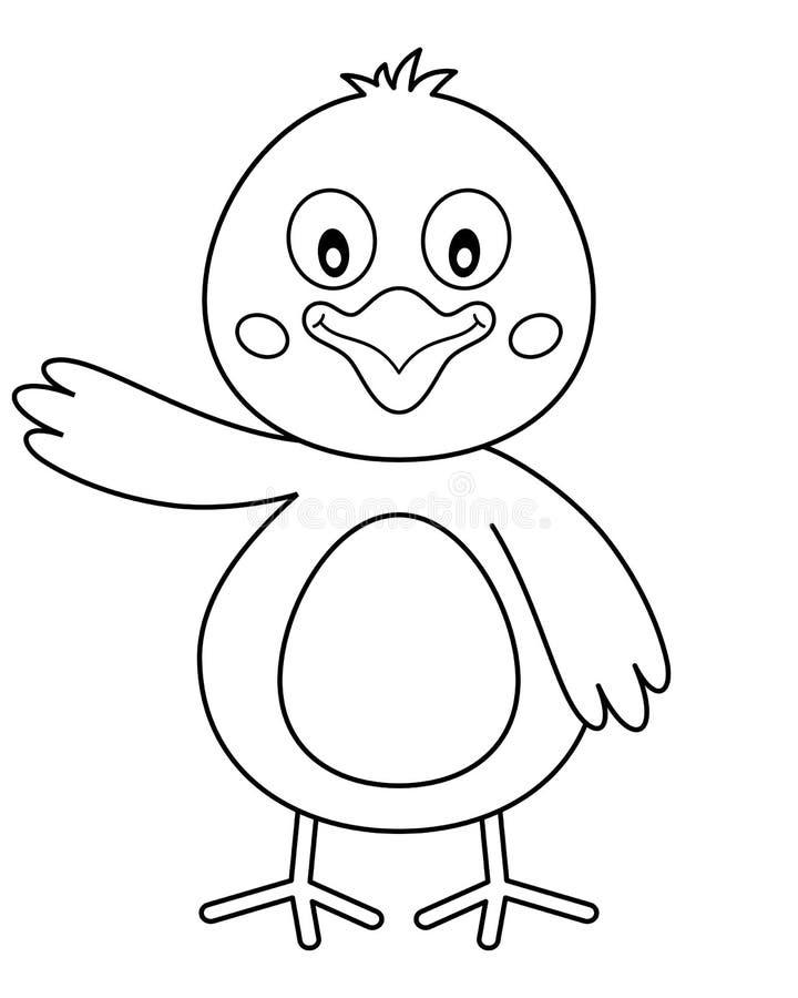 着色复活节逗人喜爱的小鸡 皇族释放例证