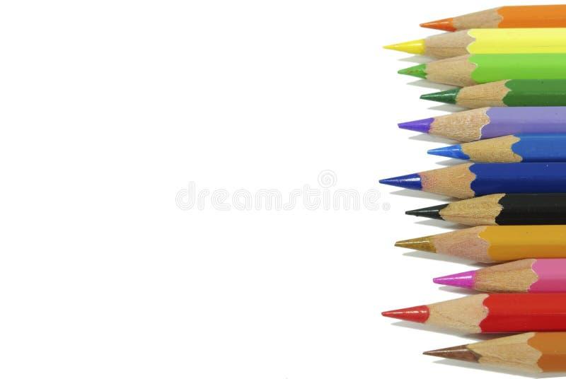 着色蜡笔铅笔 免版税库存图片