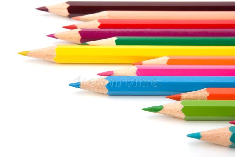 着色蜡笔铅笔 免版税库存照片