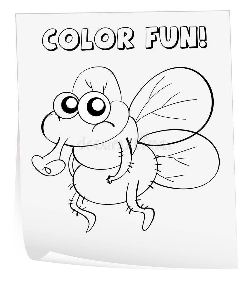 着色活页练习题 向量例证