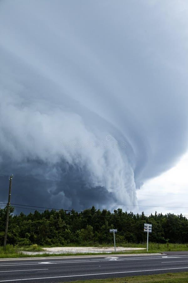 着陆在佛罗里达的龙卷风 库存图片