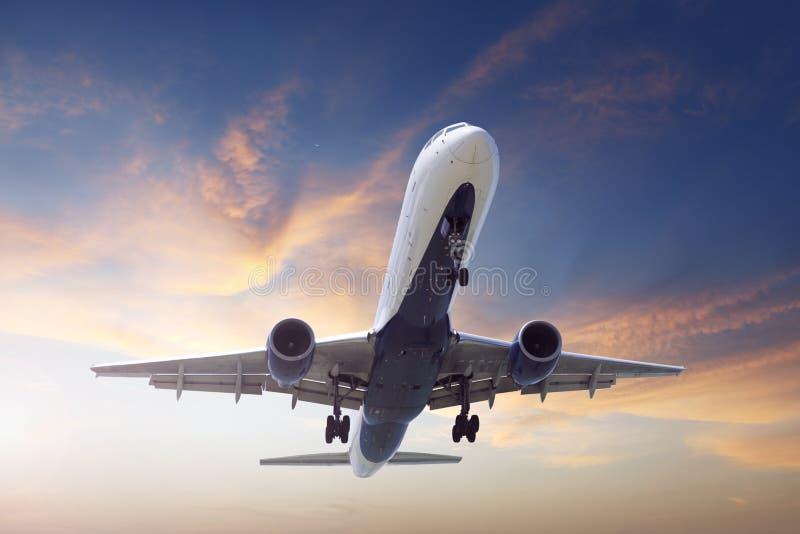 着陆飞机 免版税图库摄影