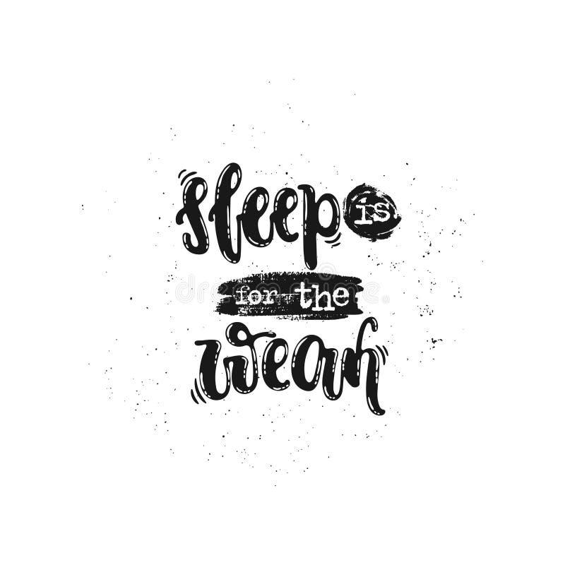 睡眠是为微弱 库存例证
