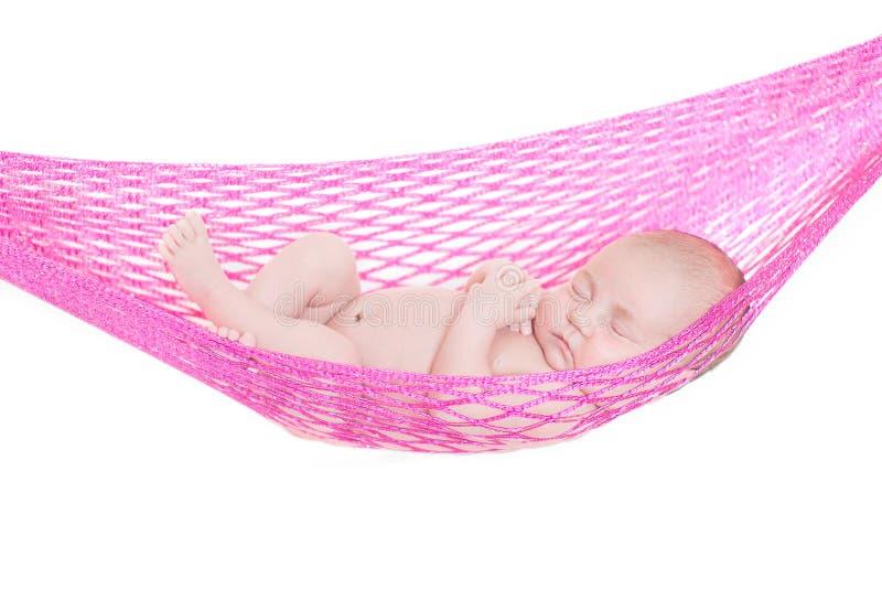 睡着新出生的婴孩 免版税库存图片