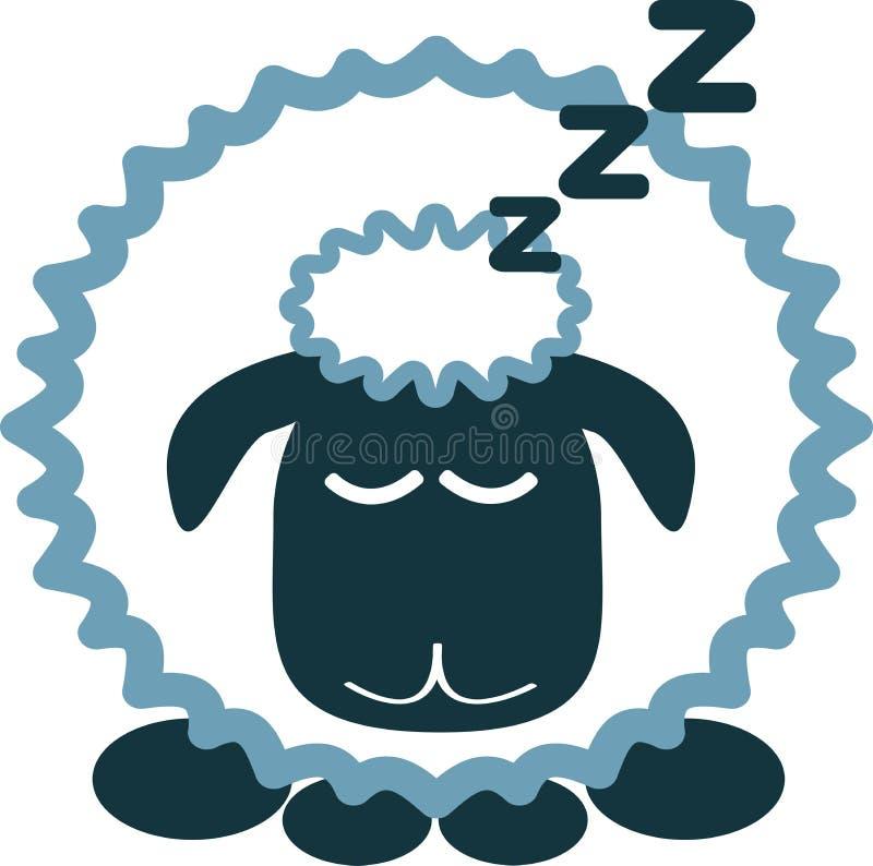 睡着的绵羊 免版税库存图片
