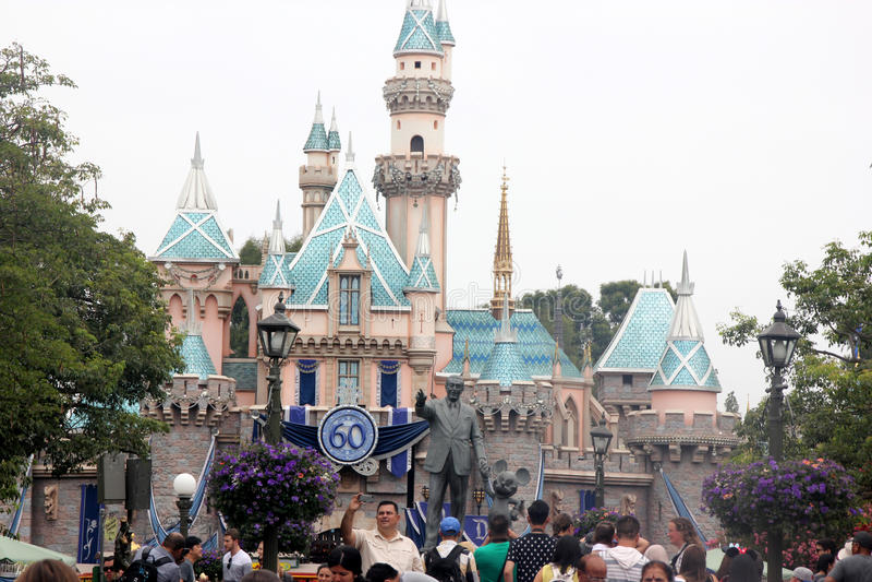 睡美人城堡,迪斯尼乐园,加利福尼亚 库存图片
