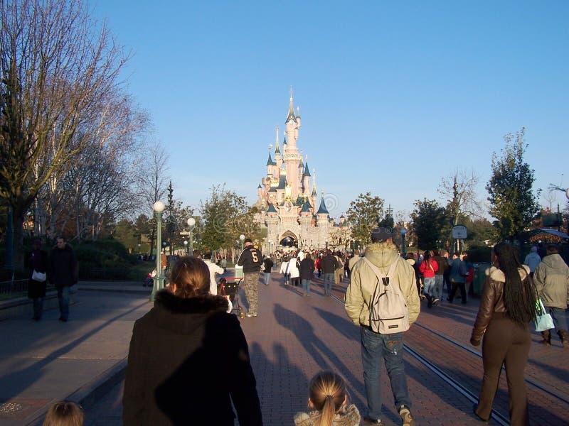 睡美人的城堡在迪斯尼乐园巴黎 免版税库存图片