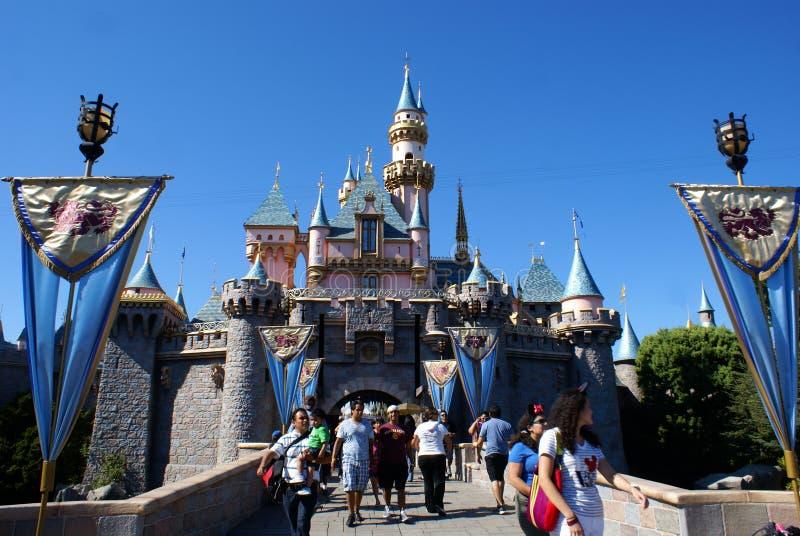 睡美人的城堡 免版税库存图片