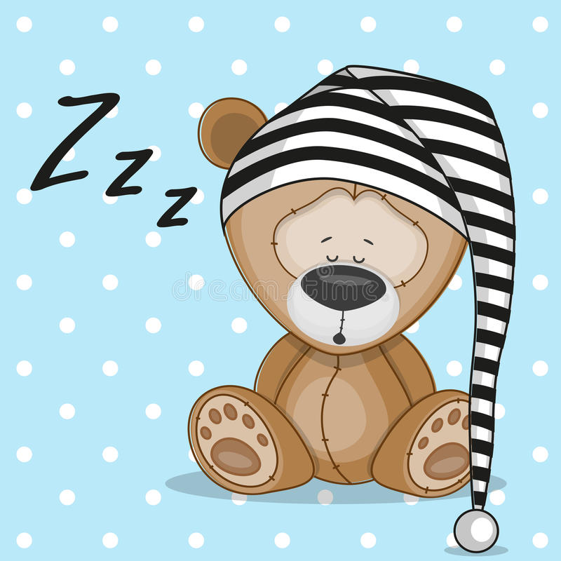睡觉熊 库存例证