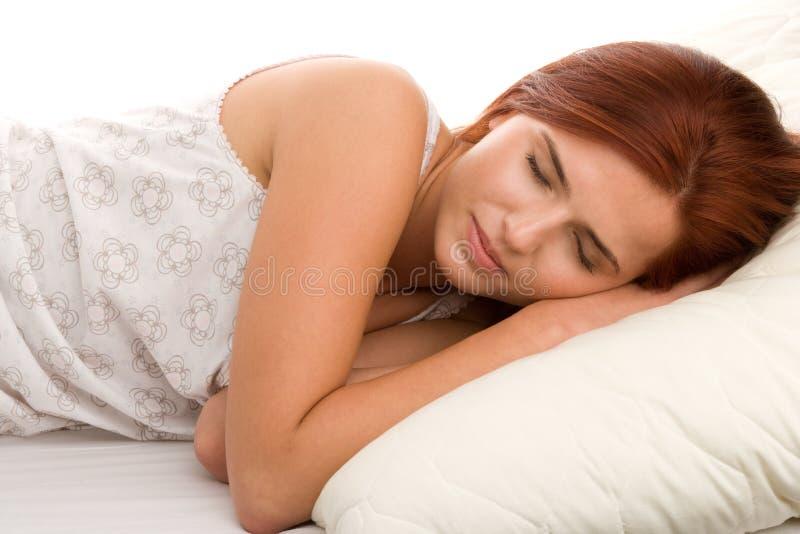 睡觉的妇女 图库摄影