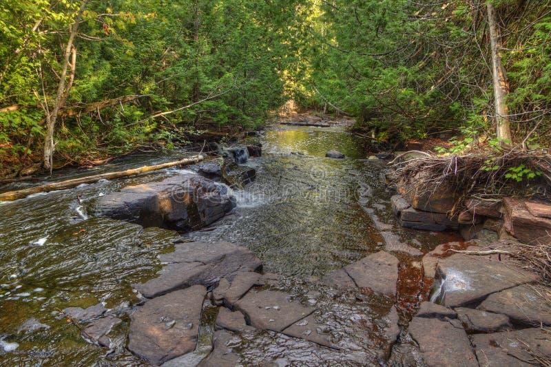 睡觉的巨人是苏必利尔湖的一个大省公园在安大略的桑德贝北部 图库摄影