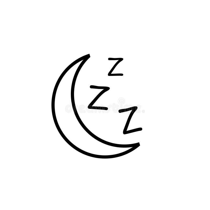 睡觉象,月亮zzz传染媒介象 库存图片