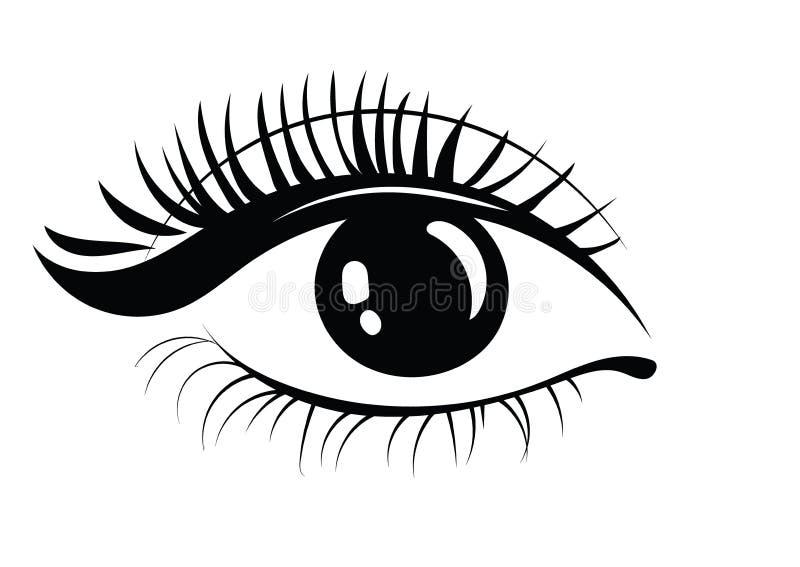 睫毛商标  风格化头发 三角形状抽象线  Tiget 库存例证