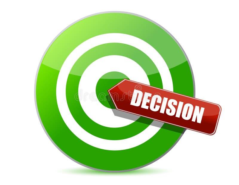 瞄准一个好决策概念 向量例证