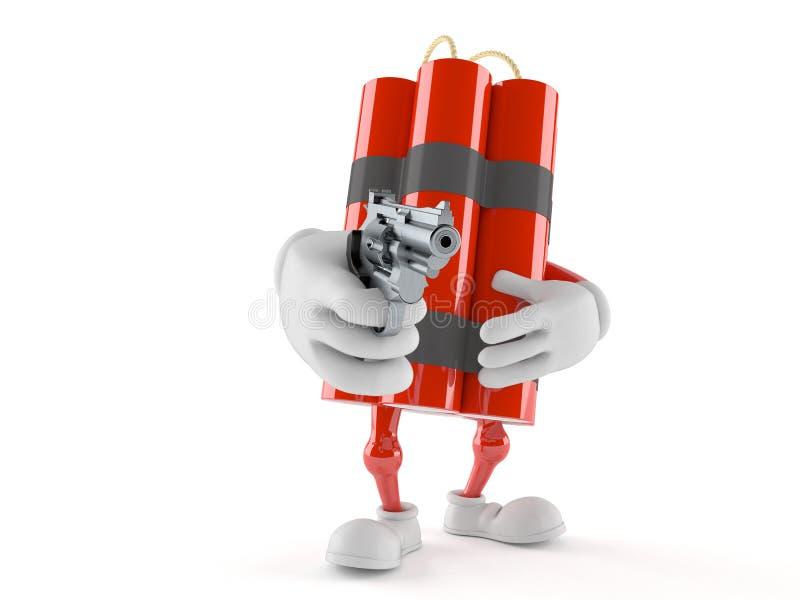 瞄准枪的炸药字符 皇族释放例证