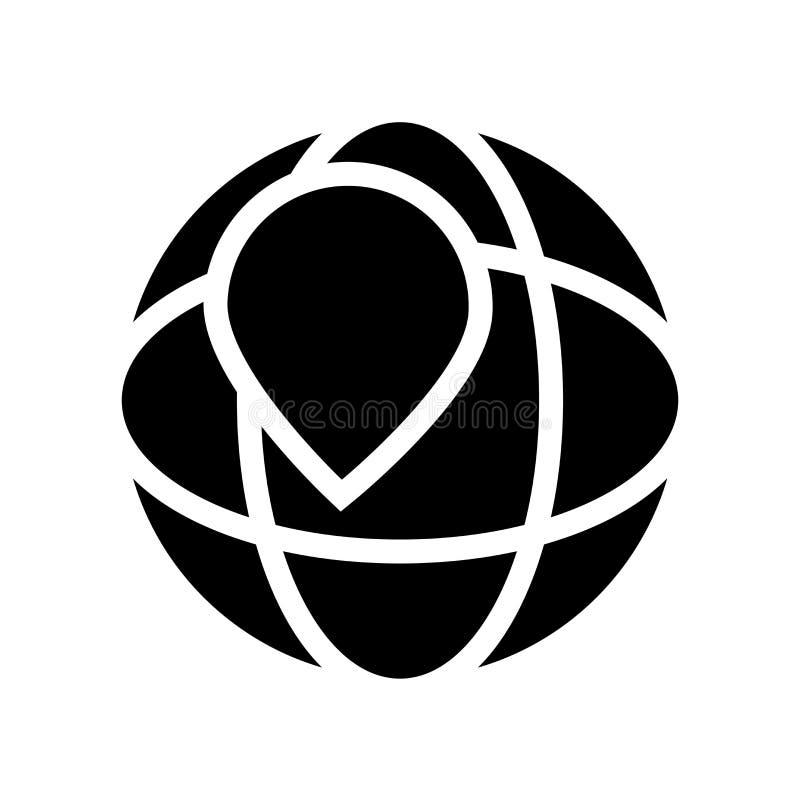 瞄准象的geo 瞄准在白色的时髦geo商标概念 向量例证