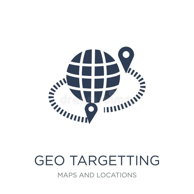 瞄准象的geo 瞄准在w的时髦平的传染媒介geo象 库存例证