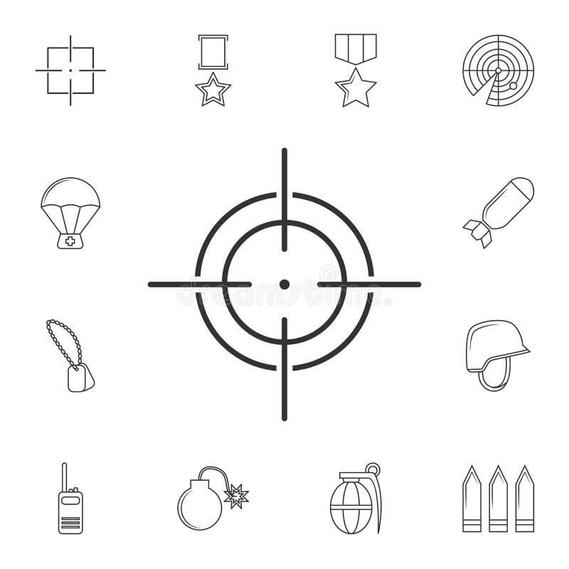瞄准象,视域狙击手标志线象 普遍的军队象的元素 优质质量图形设计 标志,标志collectio 向量例证