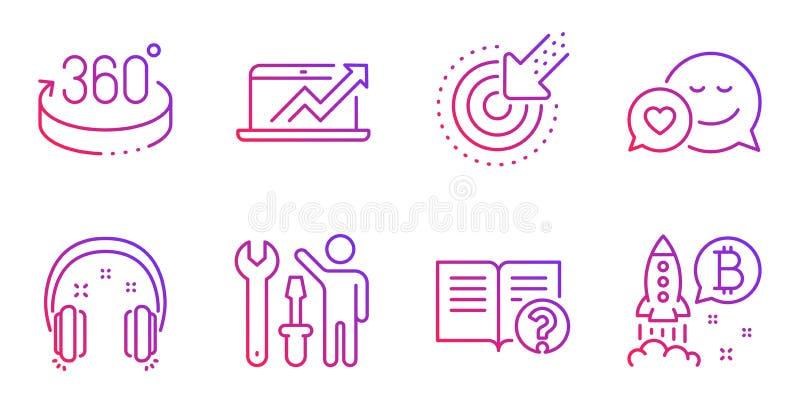 瞄准,安装工和销售用图解法表示象集合 约会,帮助和耳机标志 ?? 向量例证