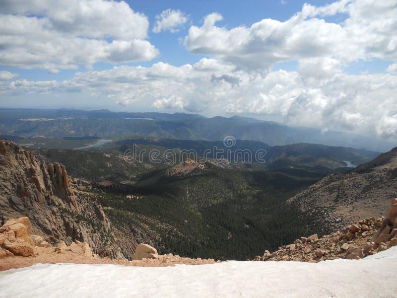 矛高峰科罗拉多泉上面  免版税库存照片