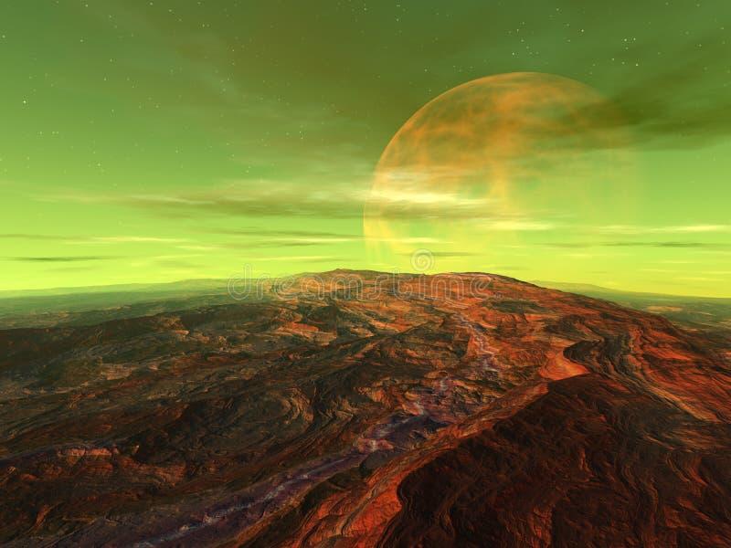 矢车菊苷的月亮 向量例证