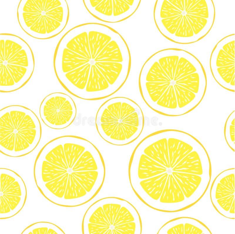 矢量柠檬 新鲜柠檬水果,矢量图图集 背景中可爱的黄色柠檬片 皇族释放例证