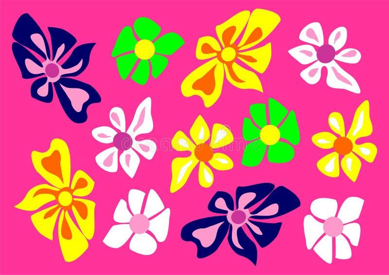 矢量的花纹花样 库存例证