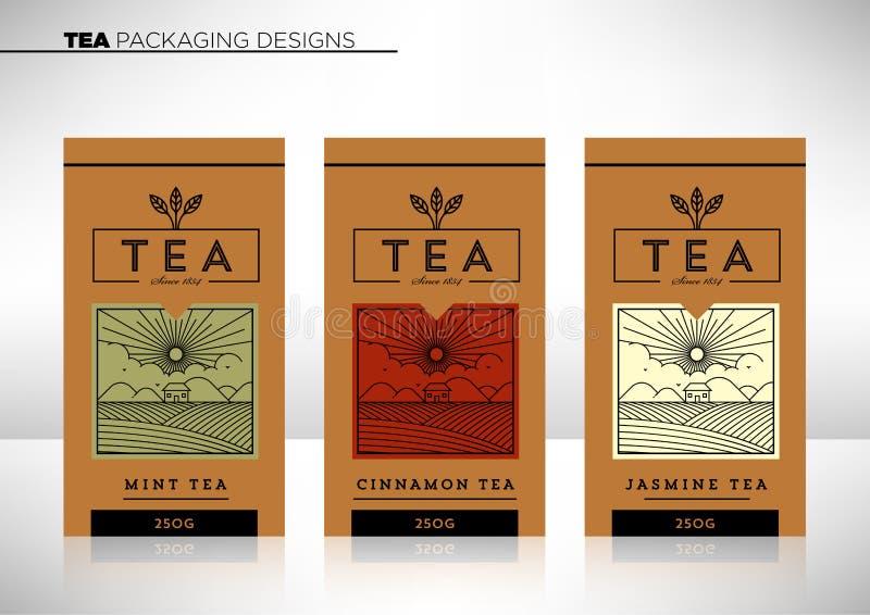 矢量茶包装设计模板 库存照片