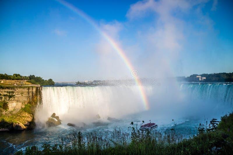 知名的尼亚加拉瀑布在加拿大,安大略 免版税库存图片
