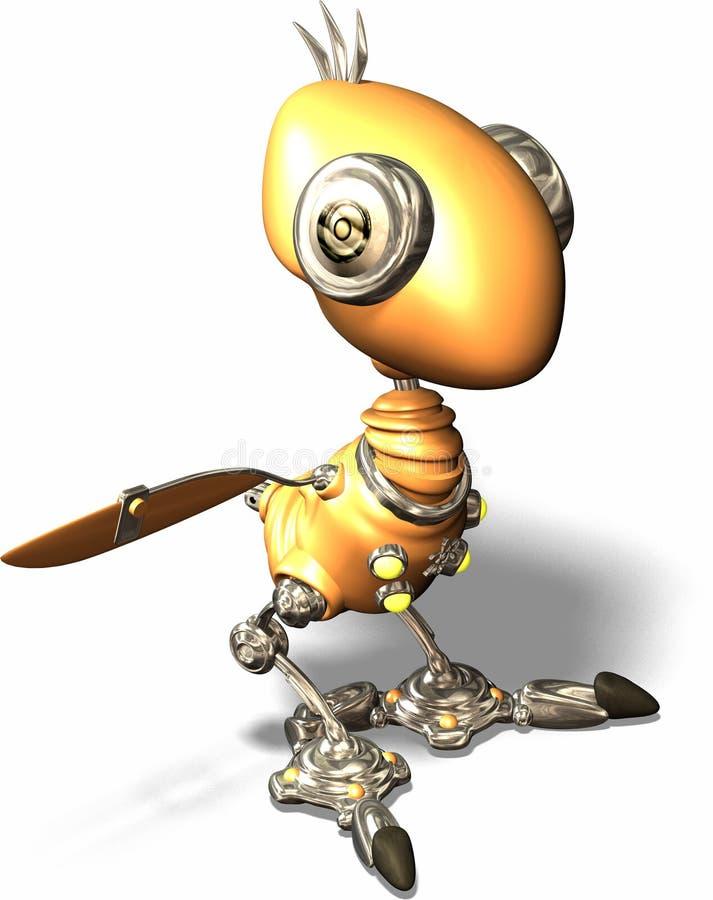 知更鸟机器人 皇族释放例证