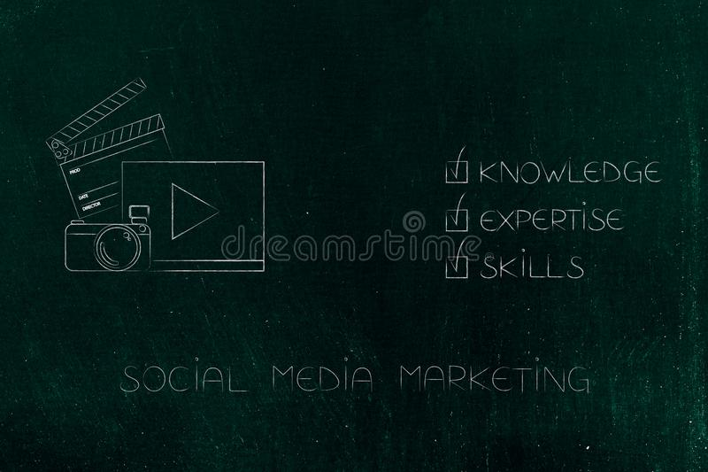 知识专门技术和技能在socia旁边斥责了说明 向量例证