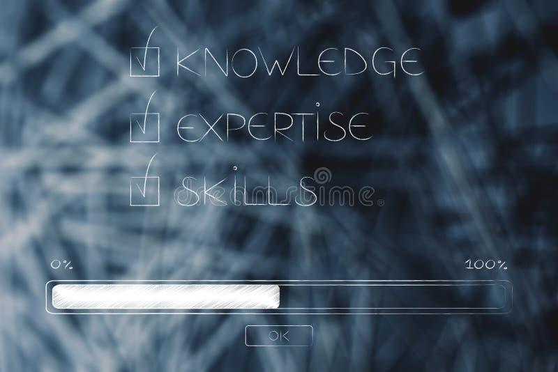 知识专门技术技能斥责了与进展酒吧 向量例证
