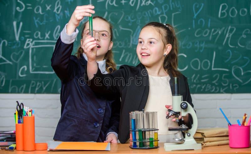 知识交叉路分子生物学和化学 学校项目调查 学校实验 r 免版税图库摄影