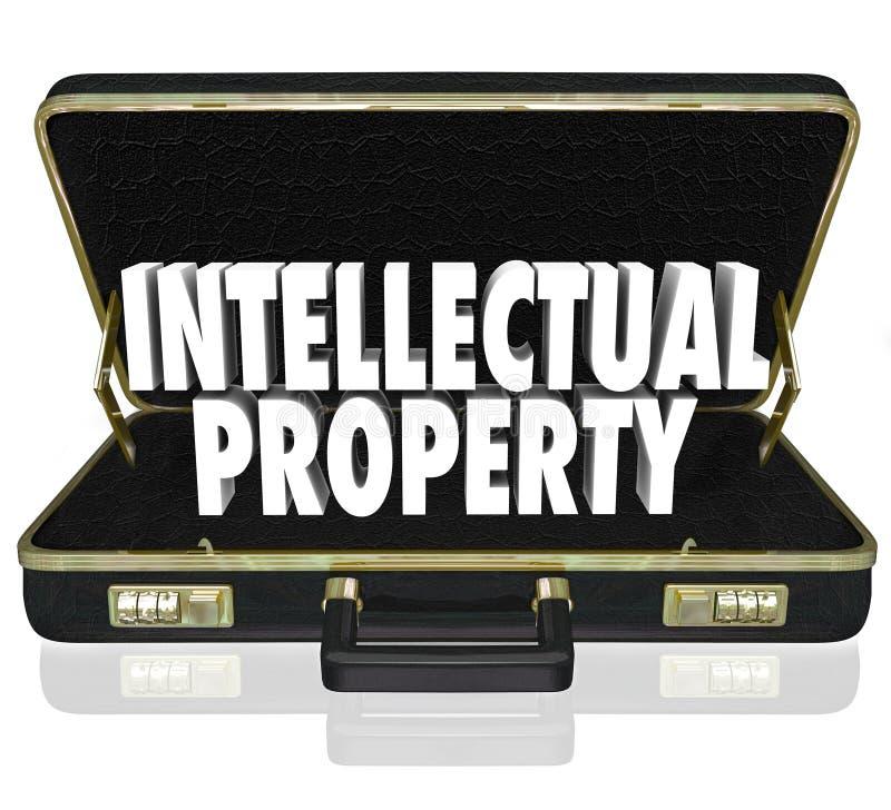 知识产权措辞公文包营业执照版权 库存例证