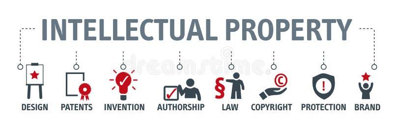 知识产权概念传染媒介例证 库存例证