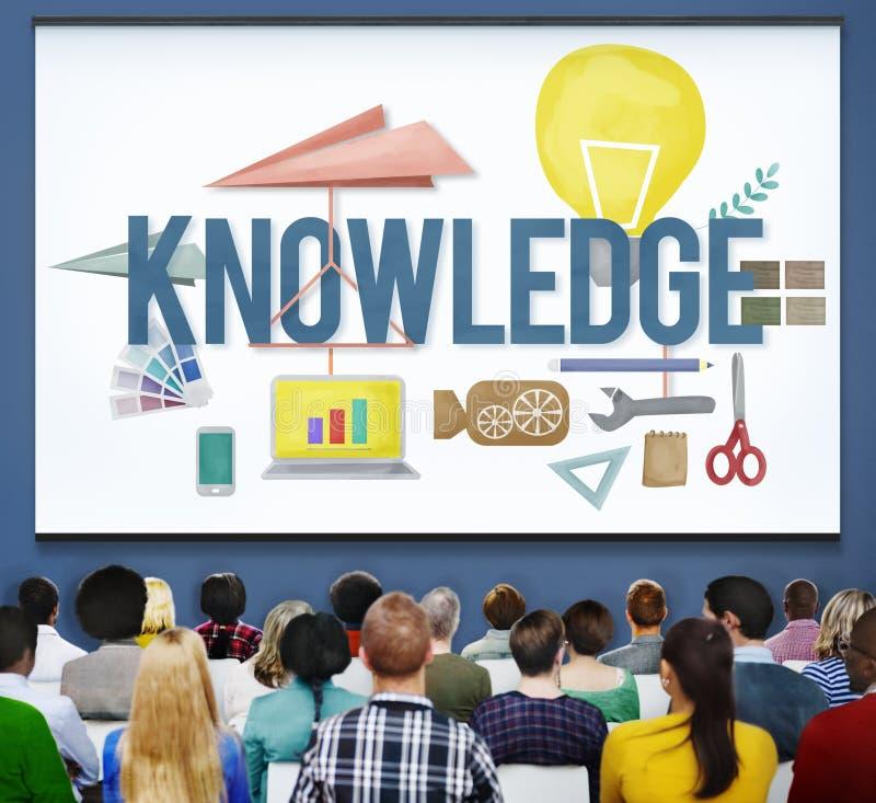 知识学校课程程度图表概念 库存图片