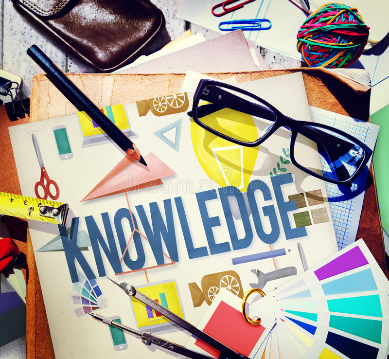 知识学校课程程度图表概念 图库摄影