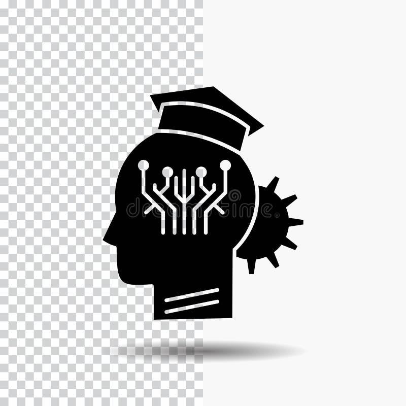 知识,管理,分享,聪明,技术在透明背景的纵的沟纹象 ?? 向量例证