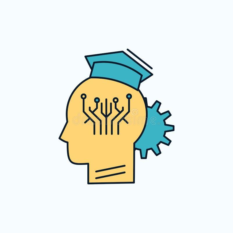 知识,管理,分享,聪明,技术平的象 r 库存例证