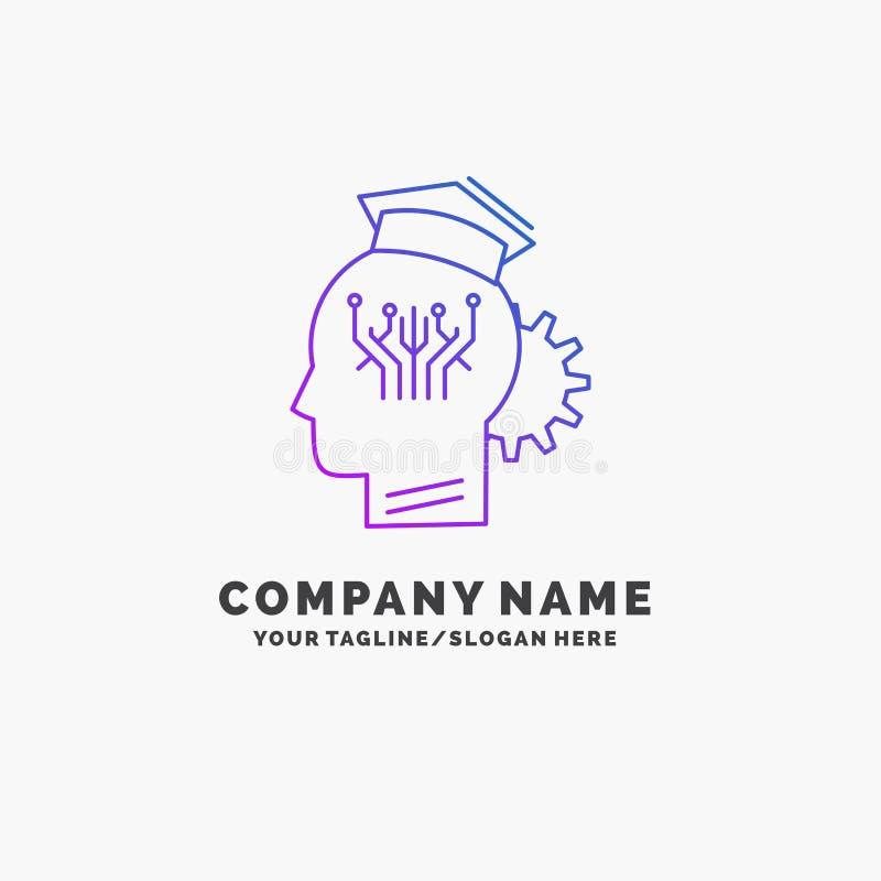 知识,管理,分享,聪明,技术紫色企业商标模板 r 皇族释放例证