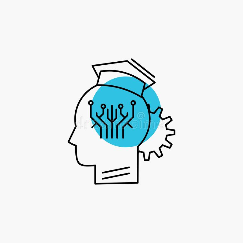知识,管理,分享,聪明,技术线象 向量例证